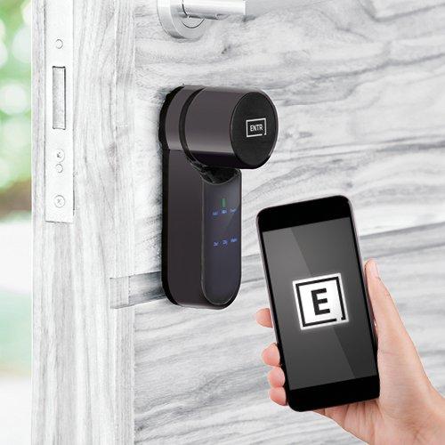 Black model extends the ENTR® smart door lock colour palette