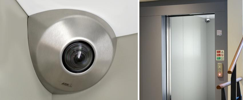AXIS P9106-V network camera brushed steel and elevator